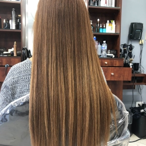 Client After Keratin Treatment
