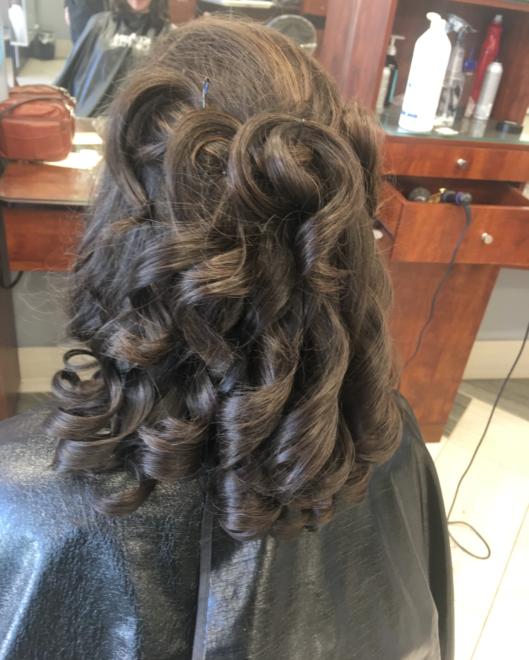 Soft Waves Hairdo Teddy Rose Salon Skokie Back View