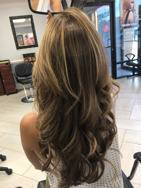Skokie salon waves special occasion hairdo