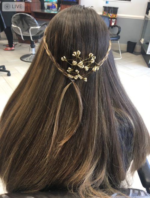 Youthful hairdo from Teddy Rose Salon in Skokie