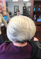 Great cut for thin hair at Teddy Rose Salon in Skokie