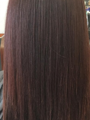 After - Keratin Treatment at Teddy Rose Hair Salon