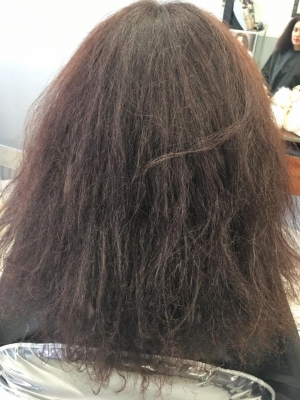 Before - Keratin Treatment at Teddy Rose Hair Salon